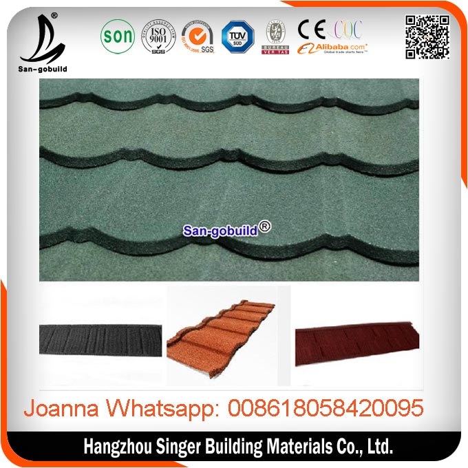 COC support High Quality Roofing Tile Manufacturer/Mixed Color Stone Coated Roofing Shingles /Aluminum Zinc Steel
