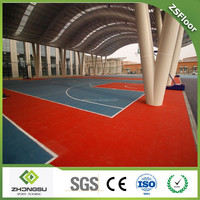 ZSFloor High quality modular tiles Outdoor PP Interlocking Sports floor for Basketball court