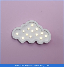 White Wooden Cloud Led Night