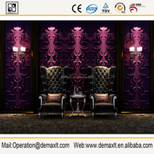 2016 deep embossed pvc wallpaper 3d wall panel (1.5m*500*500m)