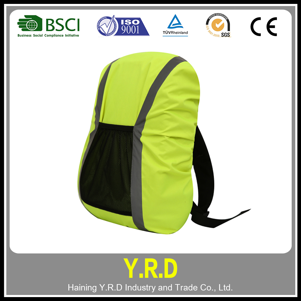 Reflective GREEN bag cover / waterproof backpack cover