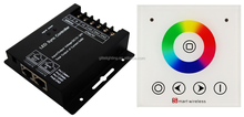 LED RGBW controller with RF wireless full touch wall panel