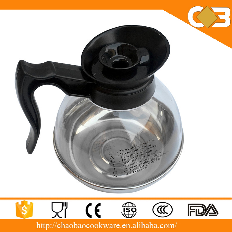 Stainless Steel induction Bottom Glass Tea Kettle, Induction Coffee Pot
