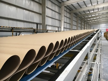 B flute carton --7 ply corrugated paperboard production line