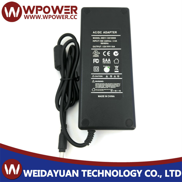 110v ac 12v 10a dc power adapter for LED LCD TV RGB with CE FCC
