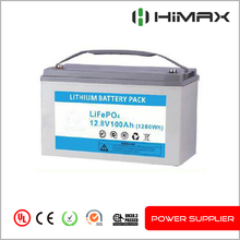 High rate maintenance free deep cycle lifepo4 12v 100ah battery ups