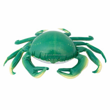 Green vivid crab giant inflatable pvc crab for promotion
