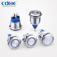 Factory Direct Supply 22mm metal Anti-Vandal Waterproof led Illuminated Momentary push button switch