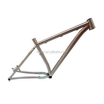 Travel titanium mountain bike frame for 142*12 thru axle
