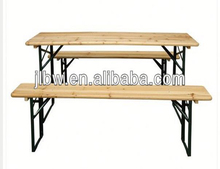 Strong wooden garden beer table and bench set furniture for pub
