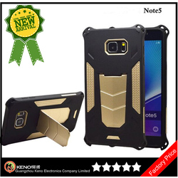 Manufactory Heavy Duty PC TPU Hybrid Amor phone Case for Samsung Note 5