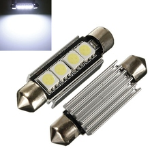31mm 36mm 39mm 42mm festoon CANBUS Error Free 3 LED 5050 SMD 6418 C5W License Plate Dome Light Bulb