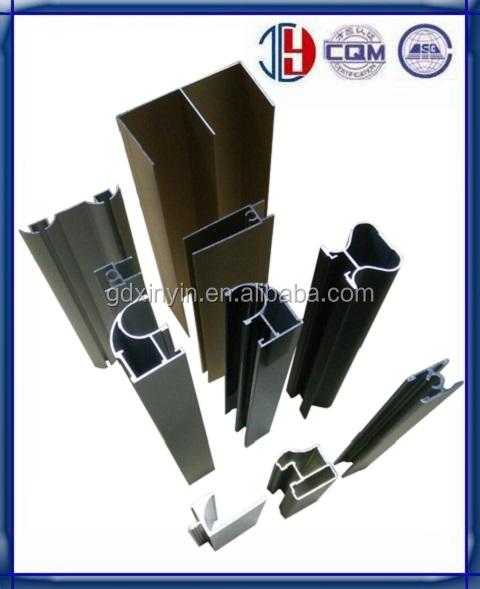 The System Frame Aluminum Closet Door Profile For Wardrobe Sliding Door