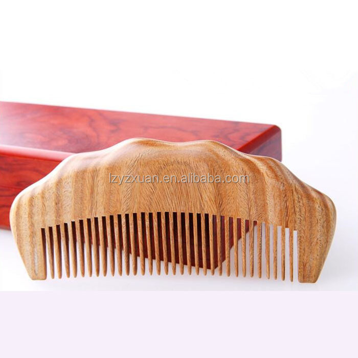 Best price antique hand carved Eco-friendly wooden beard comb on sale