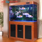 Minjiang new beautiful arowana aquarium tank super white glass fish tank