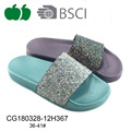 Latest new ladies open toe pcu slippers