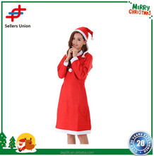 Wholesale Sexy Women Christmas Red Dress Skirt Santa Claus Clothing Costumes for Christmas Party