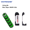 Lithium battery 48v 10.5ah 13s3p 500wh electric bicycle battery pack victpower
