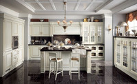 High quality solid wood white apartment kitchen units