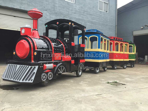 2016 new model amusement park games outdoor kids electric trackless train