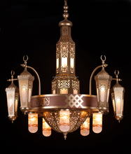 Arabic style mosque project big chandelier