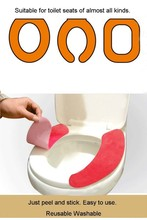 portable easy to stick and rip off toilet seat cover