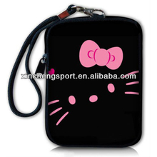 cute hello kitty neoprene wrist cell phone bag
