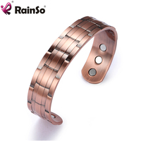 RainSo fashion engraved indian copper bangle bracelet