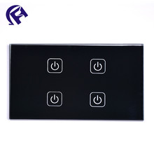 Custom Touch Button Tempered Glass Touch Switch Panel Z Wave Switch