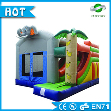 2016Hot sale! Inflatable bouncer slides with Elephant theme Bouncy castle for sale Giant inflatable slide for kids