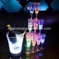 2016 New Fashion Liquid Attractive Magic LED Champagne Glass Inductive Color Cup Goblet Popular for Party Bar Wedding or KTV