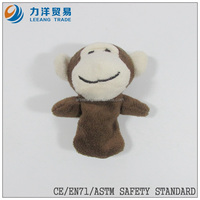 Plush hand/finger puppets(monkey), Customised toys,CE/ASTM safety stardard
