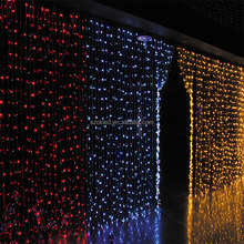LED christmas curtain fairy string Lights red /blue /white