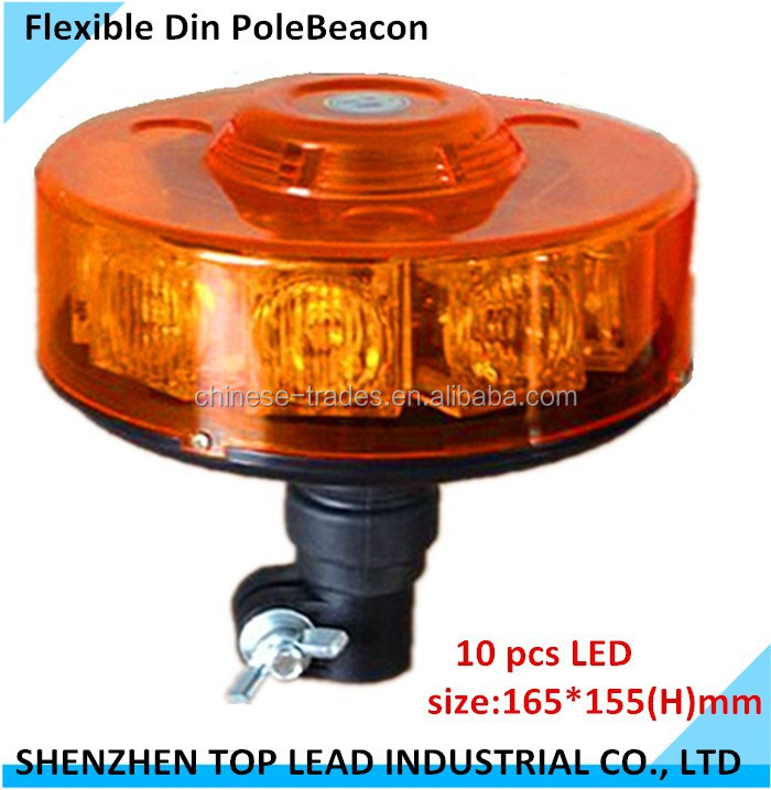 Auto Emergency MiNi LED Light Bar, Round LED Beacon, Waterproof Flexible DIN Mount pole
