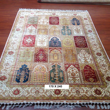 Top quality 5.5 x 8ft turkish handmade persian four season design silk rugs for sale