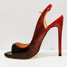 Peep Toe Casual Shoes Woman High Stiletto Heel Sexy