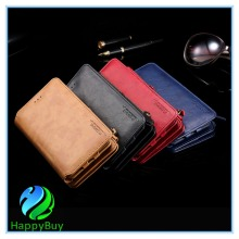 luxury leather wallet phone case for Samsung galaxy note3/4/5/7 with stand functions and excellent in quality