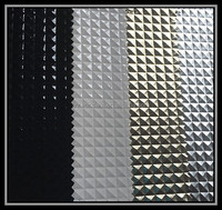silver synthetic decorative leather Foil leather vacuum suction diamond pattern pvc leather