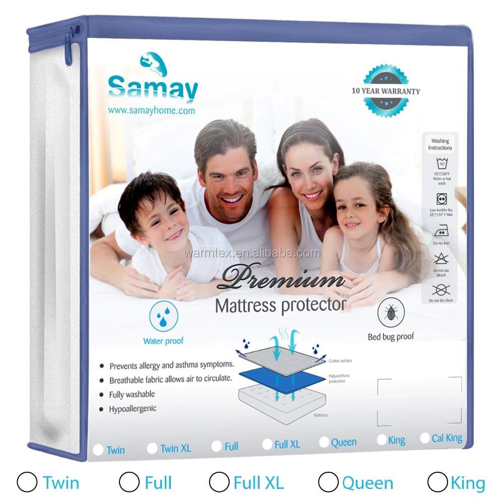 TOP 1 Bed Bug Waterproof Zippered Mattress Encasement Queen - Jozy Mattress | Jozy.net