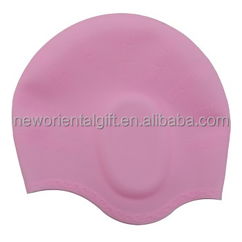 Eco-friendly silicone swim caps with Earflaps
