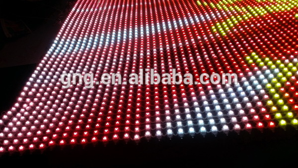 Indoor flexible curtain p40 mesh led screen work with our control system