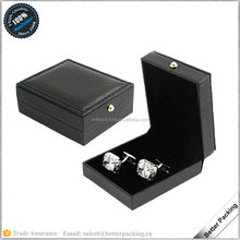 JBS332 Black Fashion Factory Manufacture Cufflink Gift Storage Box