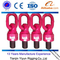 hardware red color metric thread screw swivel hoist ring for wind generator