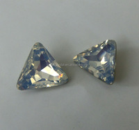 white opal triangle crystal beads loose rhinestone for garment