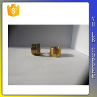 "Brass Pipe and Welding Fitting Threaded Reducer Adapter 3/4"" NPTF Female x 1/2"" NPT Male"