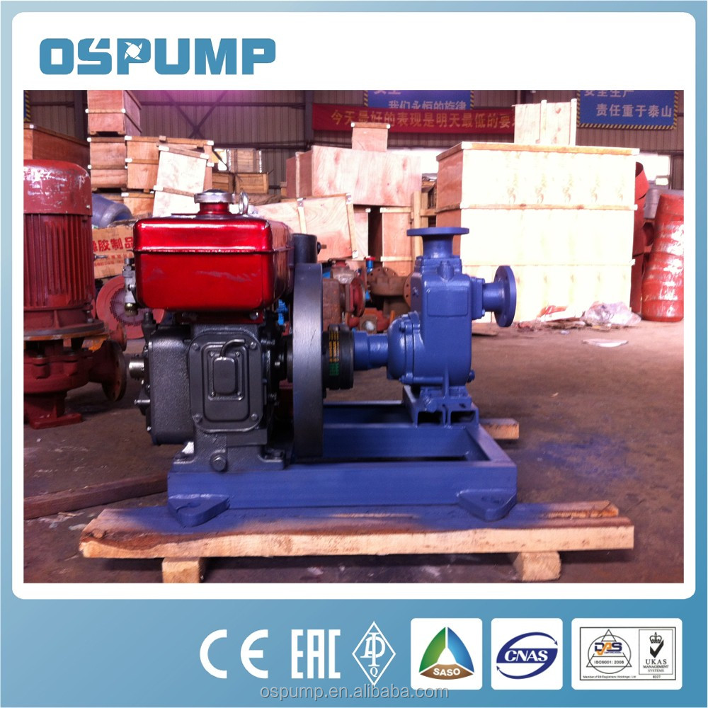 HIgh flow self priming sewage pump with samll <strong>diesel</strong>