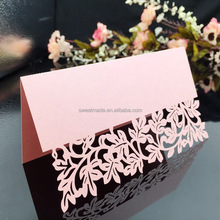 Hot sale laser cut wedding favors name card paper place cards for party decoration