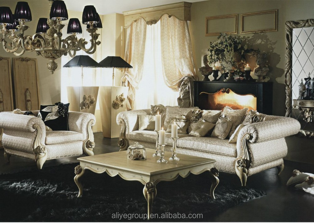 LA11203-luxury sofa set new designs 2015 italian antique style sofa classic living room furniture