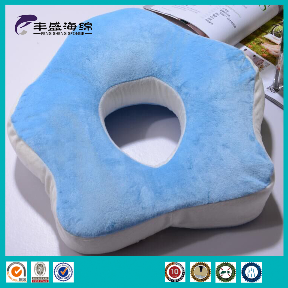 The memory foam cushion orthopedic pillow with hole