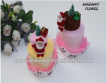 fashion design towel gift mini christmas cake